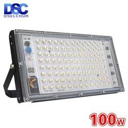 100W Led Flood Light AC 220V 230V 240V reflektor zewnętrzny reflektor IP65 wodoodporna lampa uliczna LED oświetlenie krajobrazu Reflektory    -