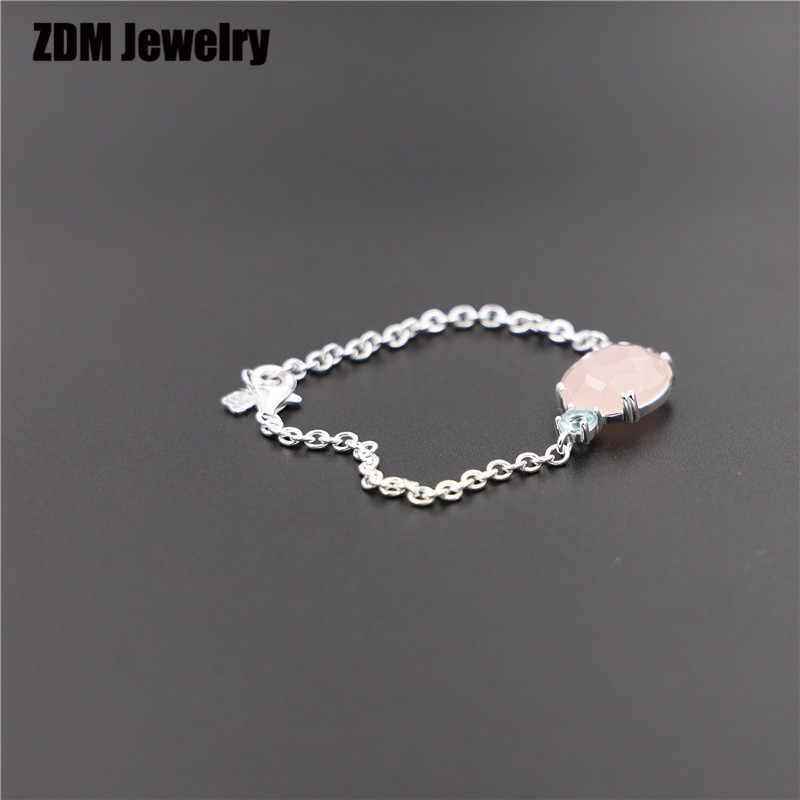 Alta calidad 925 Sterling Silver TS bear adecuado anillo esmaltado para mujer pulsera joyería de moda 925 prata