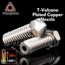 Trianglelab T  Volcano медная насадка, прочная, антипригарная, высокая производительность, Резьба M6 для 3D принтеров E3D Volcano hotend