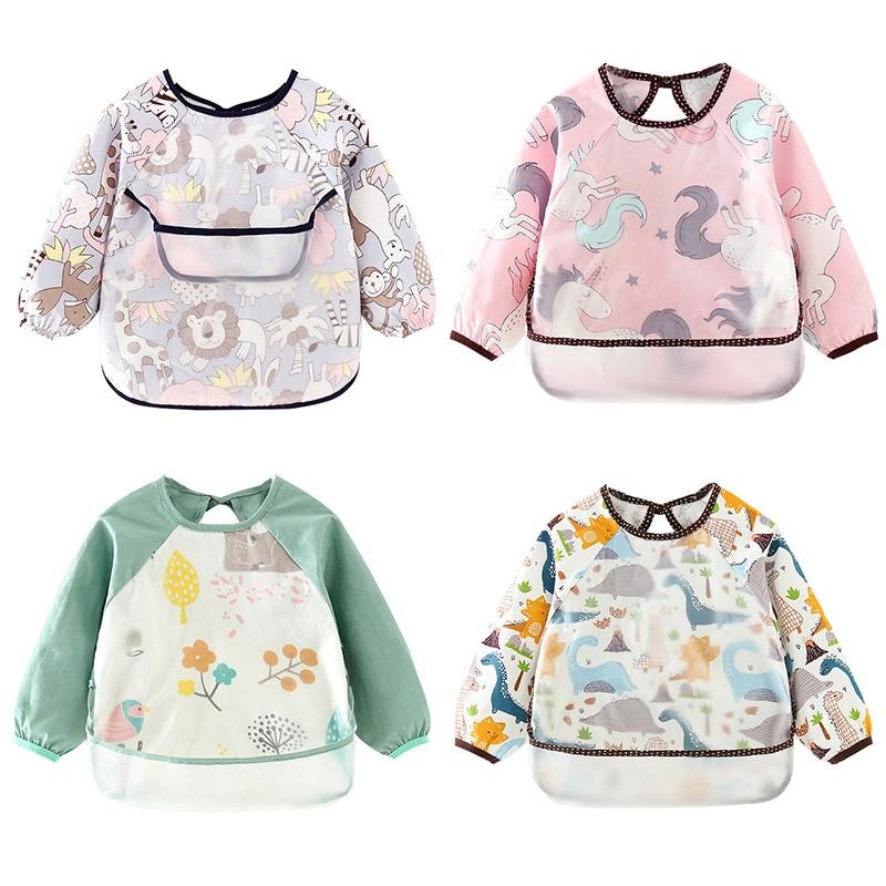 Водонепроницаемый свитер с длинным рукавом для мальчиков младшего возраста детские нагрудники для девочек детей ясельного возраста Baberos ...