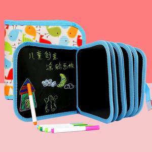 New 2020 Baby Toys Set Painting Drawing Toys Black Board with Magic Pen Painting Coloring Book Funny Toy for Kids