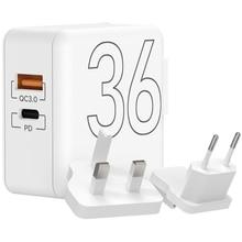 Зарядное устройство Lyambda LT36-WT (USB Type-C, USB-A), белый