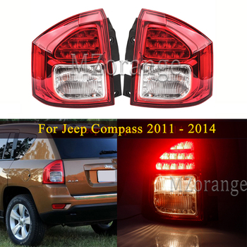 Left/Right Rear Tail lights For Jeep Compass 2011-14 Rear Bumper Brake Light Tail Stop Lamp Fog  turn signal Car Accessories 1 pair right and left led tail lights red runing brake yellow turn signal white for jeep wrangler jk 07 16 eu