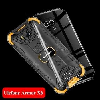 Перейти на Алиэкспресс и купить Прозрачный чехол для телефона Ulefone Armor X6 силиконовый чехол Ulefone Armor X6 5,0 дюйммягкая задняя крышка из ТПУ для Ulefone ArmorX6 X 6 Coque