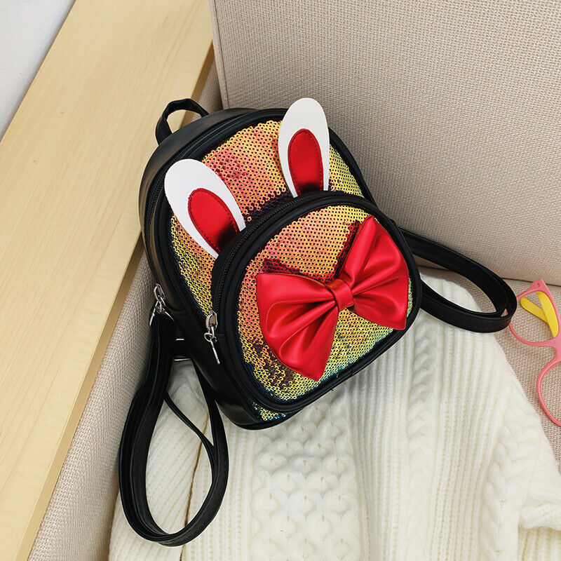 2020 Lovely Girls Sequins Mini Backpack Purse PU Small Backpack Bookbag Shoulder Rucksack Bag Travel New