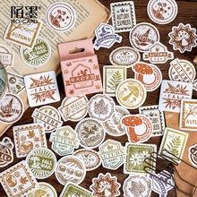 Mo.Card Letters in autumn mini paper diary sticker Scrapbooking Decoration label 1 lot = 1 pack = 45 pcs