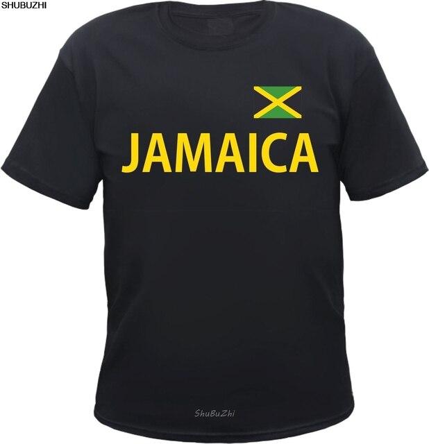 JAMAICA T-Shirt - schwarz gelb mit Flagge - S bis 5XL - jamaica rasta reggae 100 Cotton Brand New T Shirts sbz3537