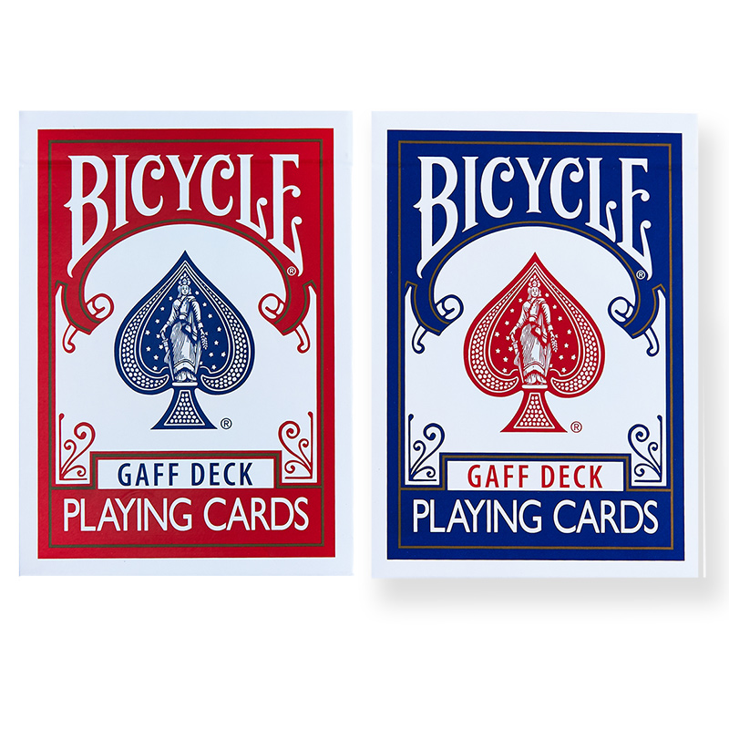 Bicycle Gaff Deck Playing Cards Red/Blue Rare Limited Poker Magic Cards Special Props Close Up Stage Magic Trick For Magician