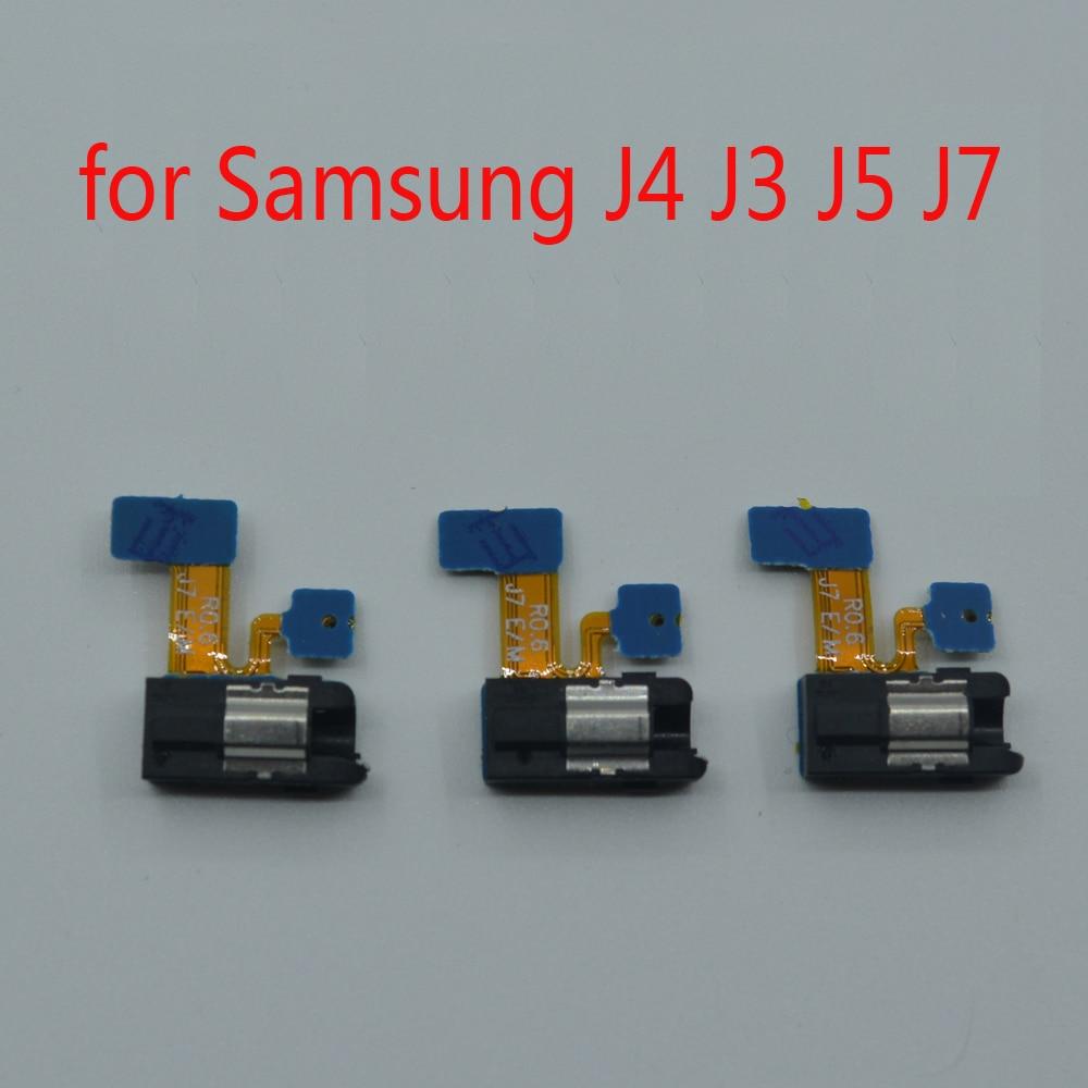 Earphone Jack Microphone Mic For Samsung J3 J5 J7 Pro 2017 J330 J530 J730 J4 2018 J400 Phone New Headphone Audio Jack Flex Cable