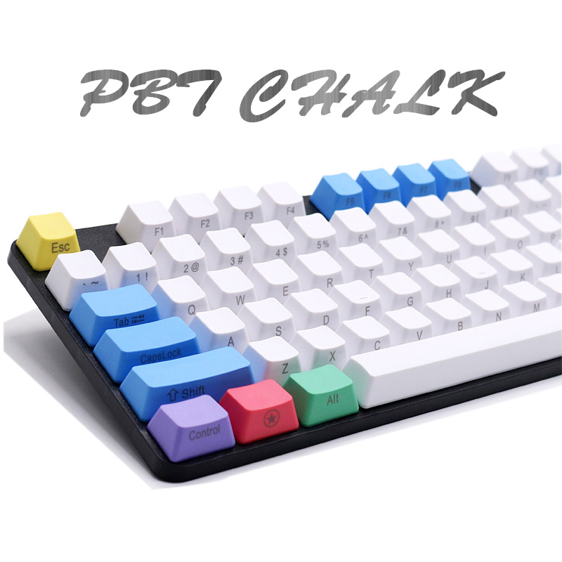 Mechanical Keyboard Keycap 87 104 108 Keys PBT Chalk Set Color Personality Keycaps for Cherry mx