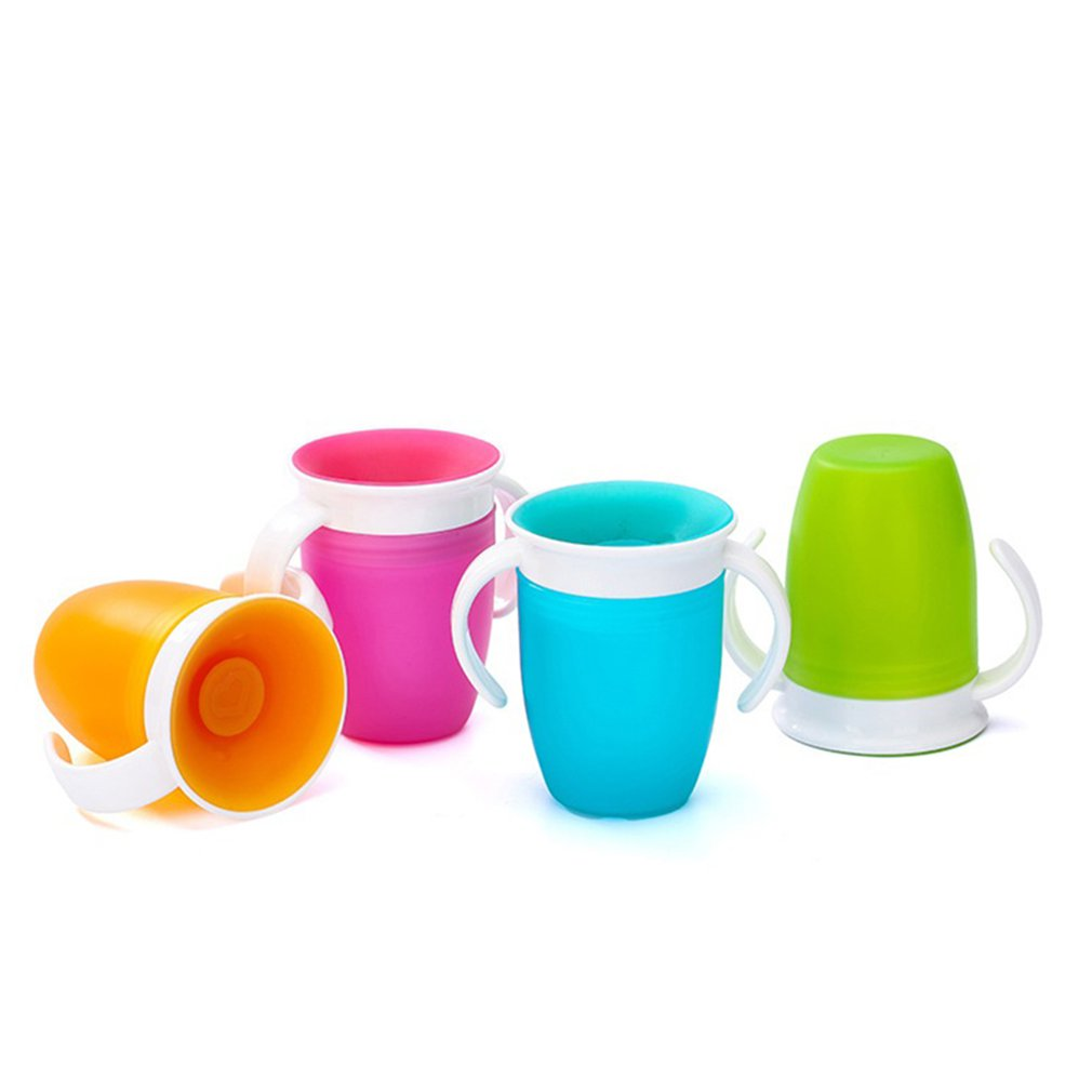 Portable 360 Degree Magic Cup Anti-Smashing Cup Baby Child Drinking Cup Learning Drinking Cup Baby Leak-Proof Cup