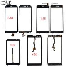 Panel de pantalla táctil para móvil, digitalizador táctil para Doogee S40, S50, S55, S60, lente de cristal frontal, Sensor, pantalla táctil, 3M, toallitas adhesivas