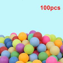 100PCS Colored Ping Pong Balls 40mm 2.4g Entertainment Table Tennis Mixed Colors for Game Activity Gifts Multi Color 2020