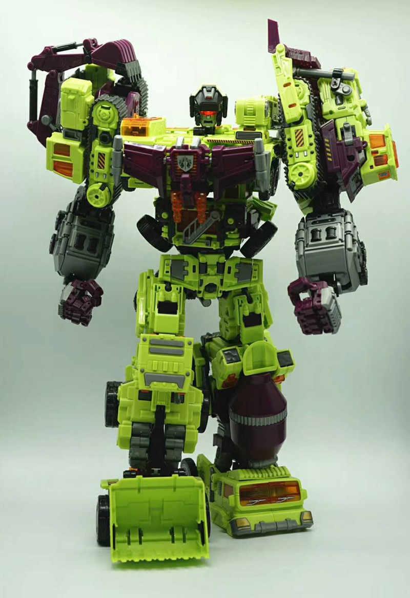 Najlepsza cena NBK Devastator 6w1 zestawy spychacz Bonecrusher GT KO transformacja figurka zabawka