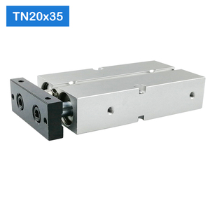 Image 5 - TN20*50 S Free shipping 20mm Bore 50mm Stroke Compact Air Cylinders TN20X50 S Dual Action Air Pneumatic Cylinder