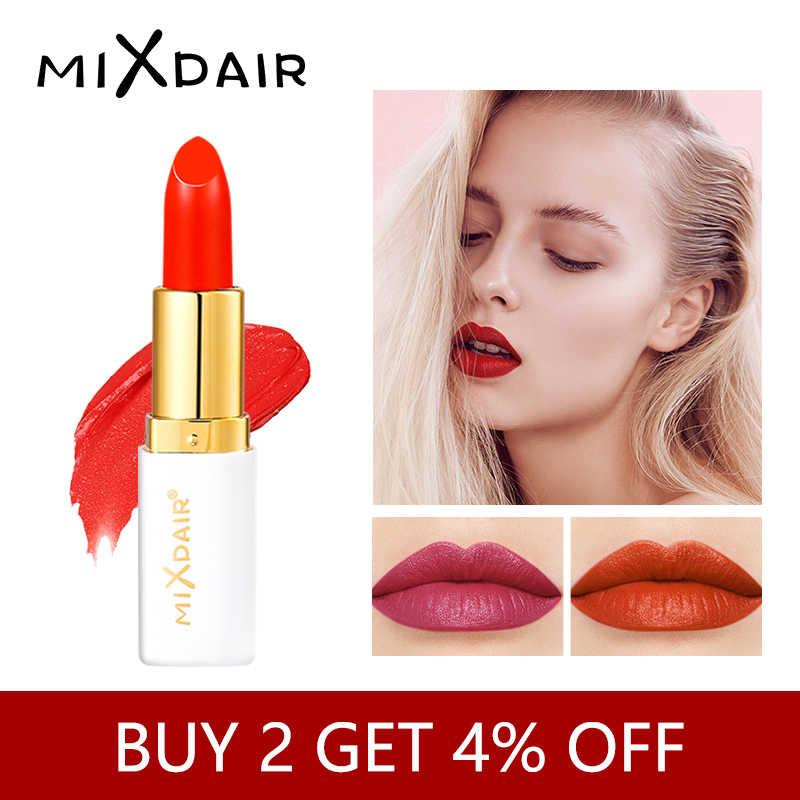 MIXDAIR 6 צבעים קטיפה שפתון מט עמיד למים לאורך זמן מקצועי סיטונאי יופי איפור מט שפתיים קוסמטיקה