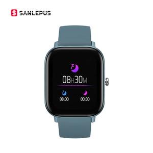 Смарт-часы SANLEPUS P8 1,4 дюйма, мужские полностью сенсорные фитнес-трекер, умные часы с кровяным давлением, женские GTS умные часы для Xiaomi