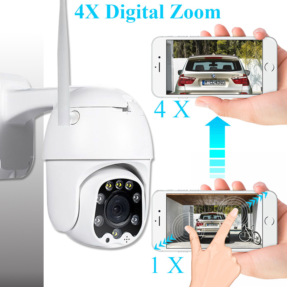 Image 2 - 2MP 3MP 5MP Wireless PTZ Speed Dome CCTV Security  IP Camera  4X zoom Outdoor ONVIF Two Way Audio P2P Camera WIFI Camhi-in Surveillance Cameras from Security & Protection