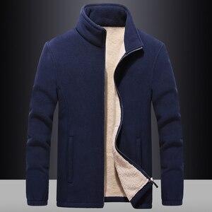 Image 4 - Ветровка мужская с флисовой подкладкой, уличная одежда, спортивная одежда, худи с шерстяной подкладкой, теплые толстовки, пальто, свитшоты, 7XL/8XL/9XL