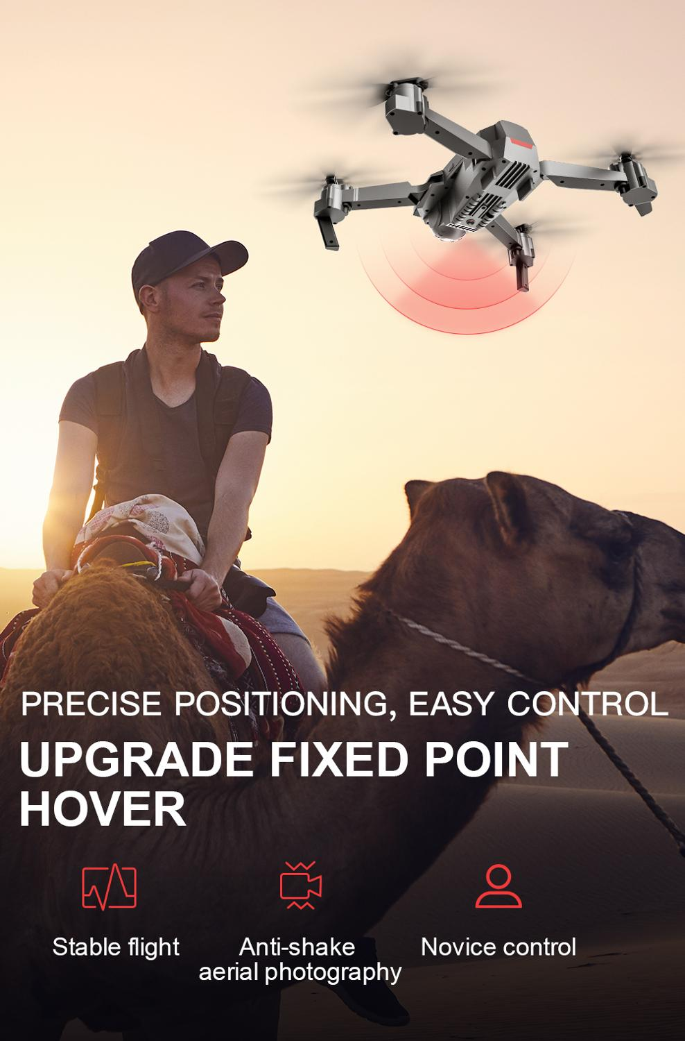 Profession GPS Drone with 4K HD Dual Camera Wide Angle Anti-shake Double GPS WIFI FPV RC Quadcopter Foldable Follow Me-3