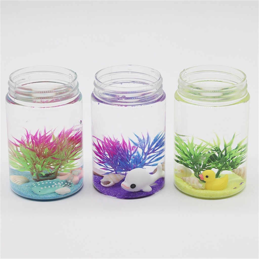 Mundo submarino Slime delfín alga marina accesorios niños descompresión juguetes creativos niños divertidos gadgets # B