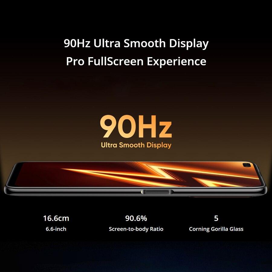 Realme 8 ГБ оперативной памяти 128 Гб ROM смартфон Realme 6 Pro на мобильный телефон Snapdragon 720Г 90Гц дисплей 30Вт зарядка вспышки 4300mAh