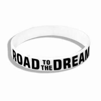 Never Give Up Motivational Bracelet Inspirational Sports Rubber Band Elastic Inspirational Bracelets for Men