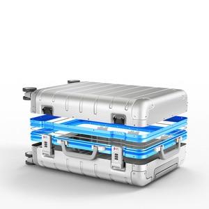 Image 4 - Xiaomi maleta de viaje con ruedas giratorias, equipaje de 20 pulgadas, con correa Y, varilla de tracción, aleación de aluminio Y magnesio de calidad superior