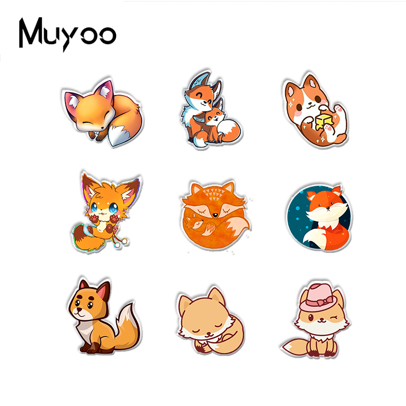 New Arrival Kawaii Cute Red Fox Cartoon Acrylic Epoxy Lapel Pins Lovely Sleeping Fox Animals Drawing Acrylic Badge Pin Best Offer 77f83 Cicig