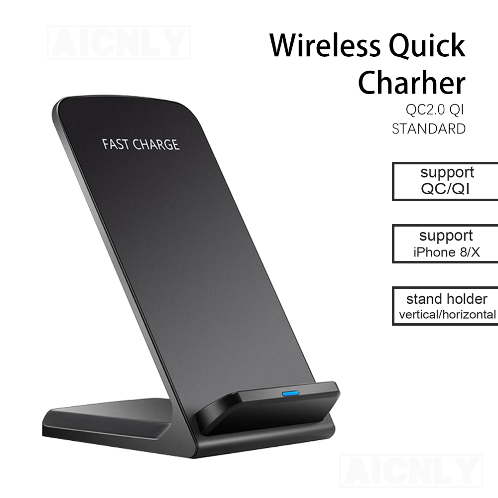 10W Wireless Charger Quick Charge Dock For Samsung S10 S20 Fast Charging Stand Pad For iPhone SE2 11 Pro XS Max XR X 8(China)