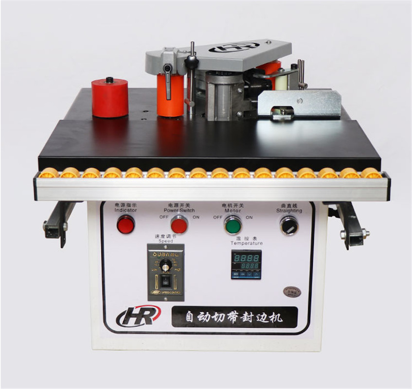 Automatic Tape Break Manual Edge Banding Machine Double Side Gluing Portable Edge Bander Woodworking Edge Banding Machine 220V