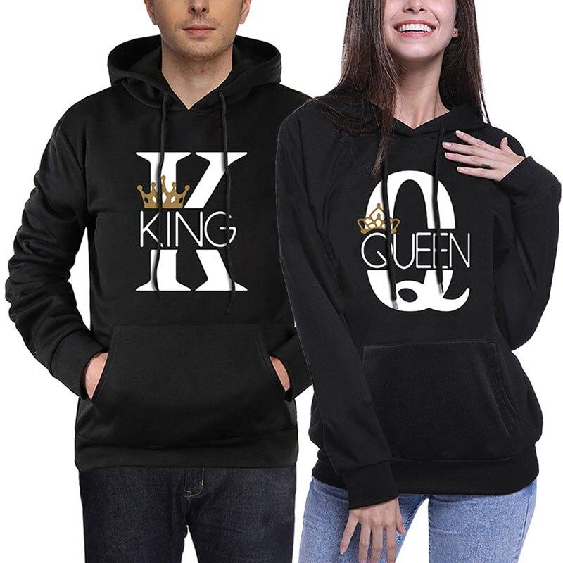 Queen Gold Hoodie Black Hooded Sweatshirt Sizes X-XXL