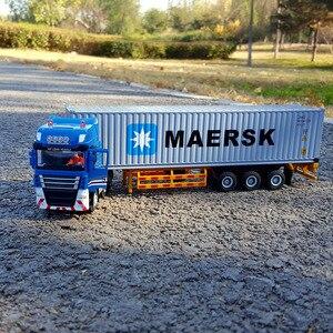 1:50 контейнер логистика сплав имитационная модель автомобиля Подарочная коллекция предметы интерьера игрушка грузовик автомобиль игрушки ...