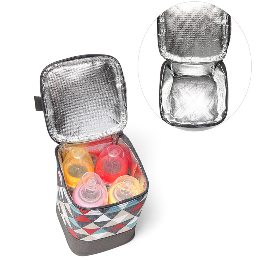 Mummy Breastmilk Preservation Portable Warm Fashion Thermal Insulation Holding Tote Detachable Printed Cooler Baby Bottle Bag