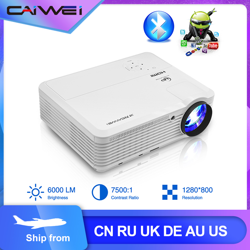 CAIWEI A7/A7AB Android Projektor 1080p Full Hd Heimkino LED Proyector für Unterstützung 4k Tragbare Mobile wifi Video TV Beamer