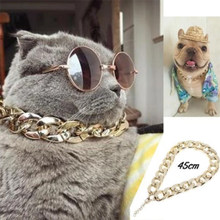 Cuban Link Thick Chunk Chain Necklace Dog Safety Collar Pets Jewelry DC112(China)
