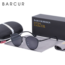 BARCUR Classic Round Sunglasses Women Polarized Sun glasses for Men lunette de s