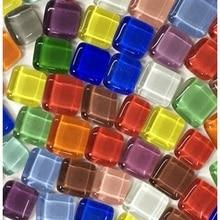 Glass Mosaic Tiles Art-Crafts Children DIY Irregular 100g Puzzle Crystal-Stone Transparent