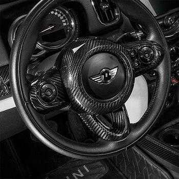 Внутренняя подушка безопасности из углеродного волокна, накладка на руль, наклейки для Mini Cooper F55 F56 F57 F54 F60 Clubman Cabrio Countryman