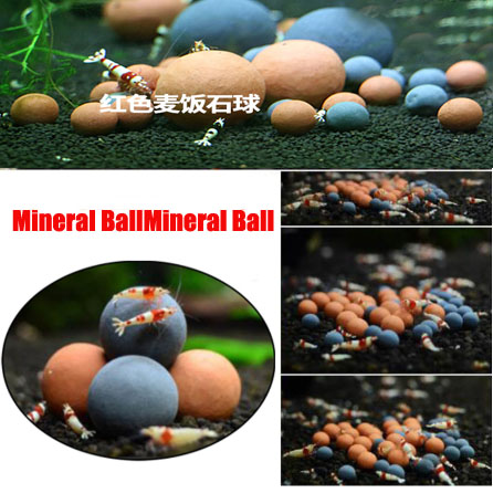 Tanque de camarones y abejas rojo transparente, bola Mineral de turmalina, efecto de largo tiempo, liberación lenta