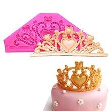 """Драгоценный камень форма «Корона»/принцесса проект """"Корона"""" Fondant(сахарная) пирожных шоколадная форма инструменты для украшения свадебного торта конфеты Fondant(сахарная) Инструменты"""