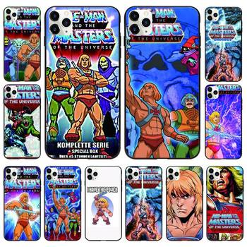 HE-MAN And The Masters Of The Universe Phone Case Black For IphoneX XS 11 12 11/12Pro Max 5 5s SE 6 6s 7 8 Plus SE2020 Cases image