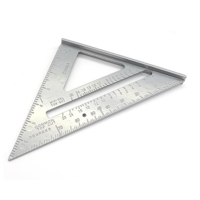 Adjustable Angle Ruler Small Base Aluminum Triangle Rafter Measuring Accessory Measurement And Analysis Instruments