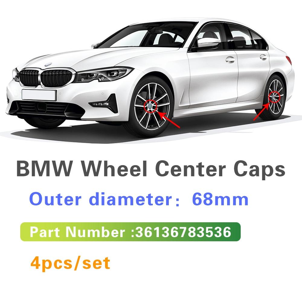 4X 68 мм для BMW E46 E39 E38 E90 E60 E36 E34 F10 F20 F30 X5 E53 E70 M E85 E87 E91, Центральная крышка колеса, колпачок ступицы, автомобильные аксессуары