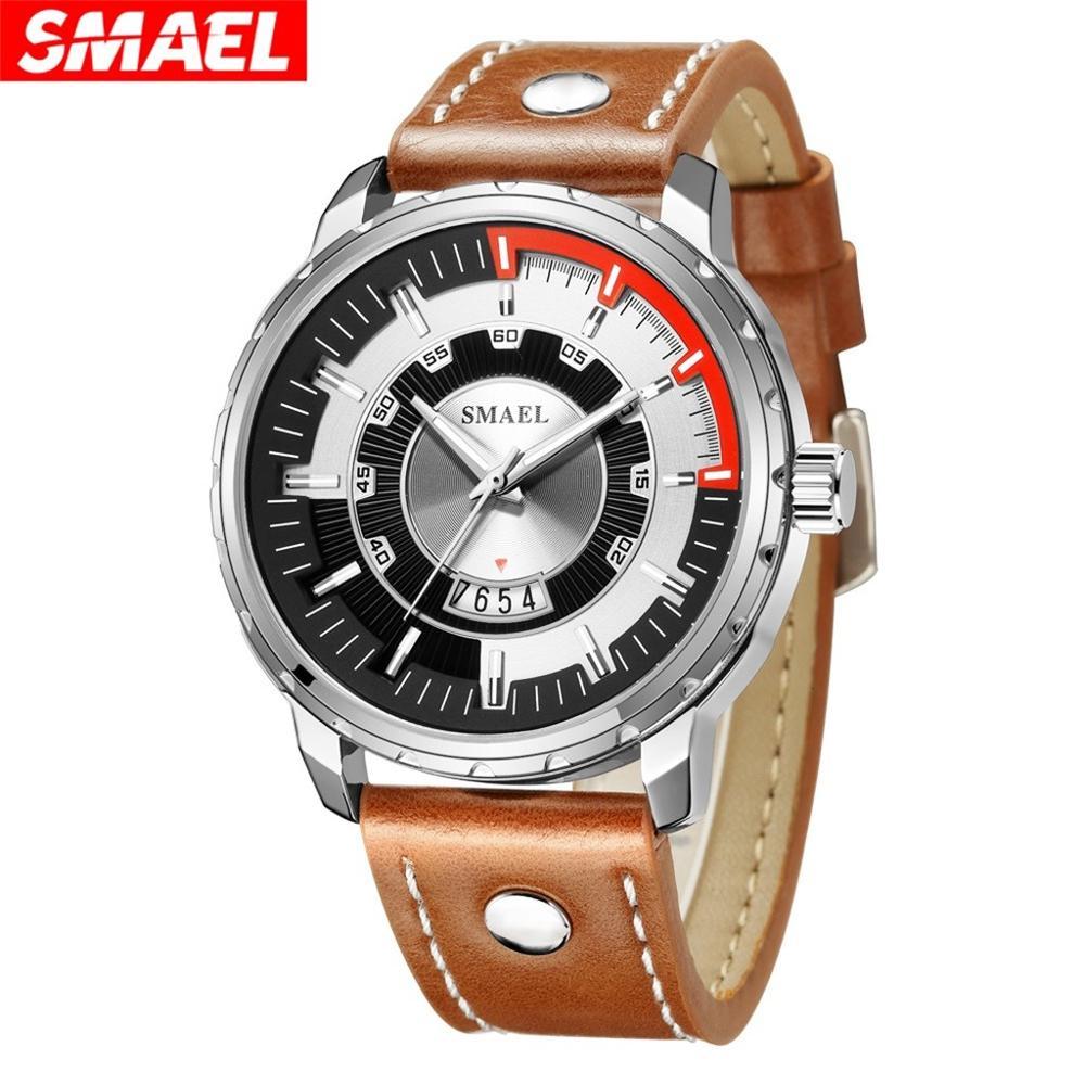 2020 SMAEL Fashion Mens Watches Top Brand Luxury Quartz Watch Men Casual Leather Band Waterproof Sport Watch Relogio Masculino|Quartz Watches| - AliExpress