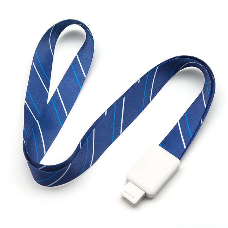 Retractable Badge Lanyards For ID Name Card Holder ,Business Card Badge Holder Neck Strap Stripe&Solid,Office Supplies