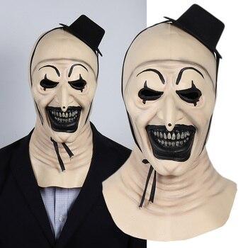 Terrifier Joker 2 Horror Mask Cosplay Funny Evil Clown Hat Latex Masks Halloween Party Costume Props new halloween devil clown vampire mask yellow goblins mask halloween horror mask creepy costume party cosplay props