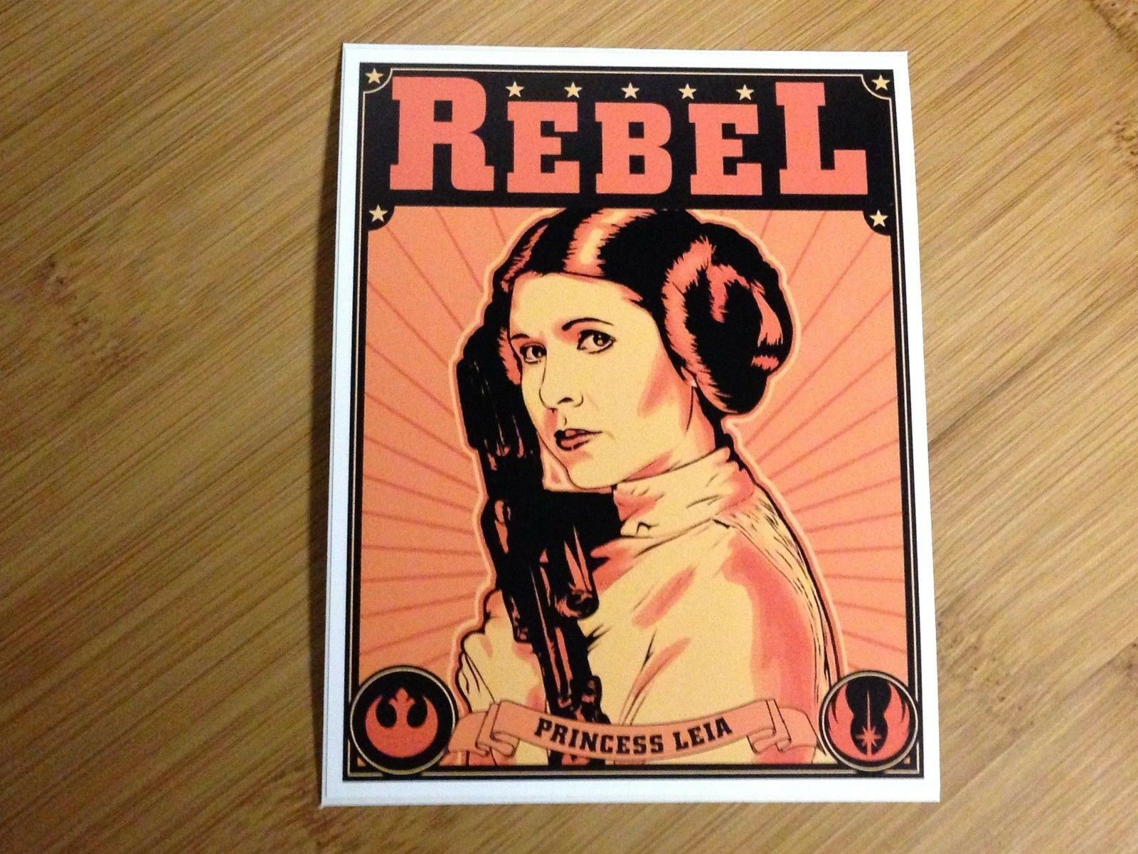 Наклейка для Rebel Princess Leia, наклейка Звездные войны, пропагандистский постер в стиле империи люка