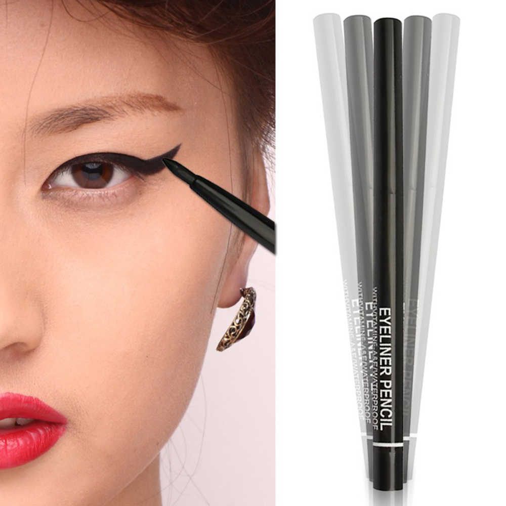 1PC Hitam 36 H Eyeliner Pensil Tahan Air Cair Eyeliner Make Up Tahan Lama Eye Liner Pensil Alat Make Up untuk Eyeshadow TSLM2
