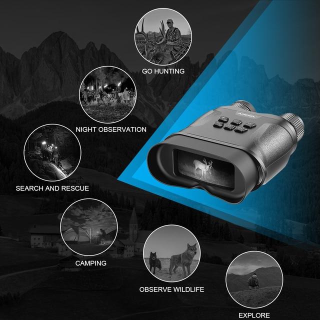 APEXEL Digital Night Vision Binoculars With Video Recording HD Infrared Day And Night Vision Hunting Binoculars Telescope 5